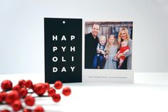 Best holiday card design! It turns into a square print and a gift tag for your recipients.