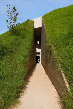 Impressive Green Roofed Residence on the Japanese Coast by Ciel Rouge | HomeDSGN