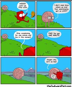 Heart and Brain comic, The Awkward Yeti