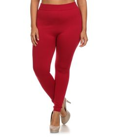 Love this Red Leggings - Plus on #zulily! #zulilyfinds