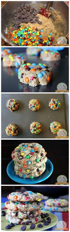 Monster Cookies. Good recipe but cookies were a little flat.