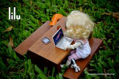 Notebook LBook McBook Pro Toy miniature for Blythe by lilushop