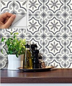 tile decals stickers for kitchen backsplash floor bath - Abnehmbare Backsplash Lowes