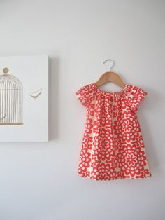 Baby Girl Peasant Dress with Angel sleevesred and by ChasingMini, $42.00