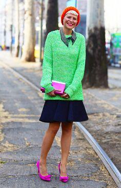 Elisa Nalin in Green and Pink