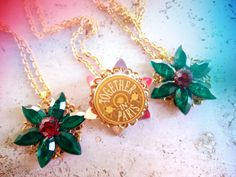 SALES Anastasia Charm Necklace Together In Paris Replica Flower Emerald Romanov Replica Handmade