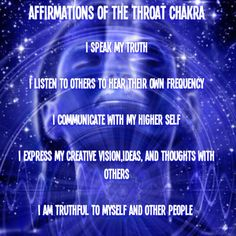 throat chakra affirmations | Throat Chakra Art by Leanne M. Williams: Chakra Affirmations, Chakra ...