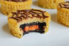 oreo pumpkin cheesecakes.
