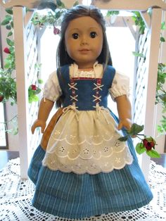 "Beauty and the Beast Blue Dress Belle Outfit to fit your 18"" American Girl Doll by Emmakate0 on Etsy"