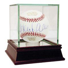 Hank Aaron Autographed and Engraved Career Stats MLB Baseball