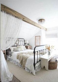 Farmhouse house bedroom