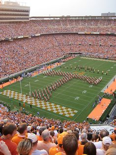 Neyland Stadium. Home of the University of Tennessee Volunteers. Knoxville, TN. Rocky Top will always be home sweet home to me<3