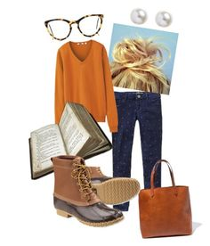"""""""Hocus Pocus L.L.Bean"""" by missdarlington ❤ liked on Polyvore featuring Gap, Madewell, Uniqlo, Selima Optique and L.L.Bean"""