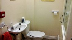 Before photo of the staff toilet