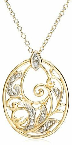 "18k Yellow Gold Plated Sterling Silver Diamond Accent Pendant, 18"" Amazon Curated Collection, http://www.amazon.com/dp/B000SMMI0A/ref=cm_sw_r_pi_dp_Jtl2qb1C3SE3J"