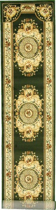 2' 6 x 13' 1 Green Versace - Aubusan Area Rugs