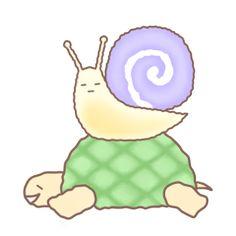 波蘿龜與綿綿蝸 - 個人原創貼圖