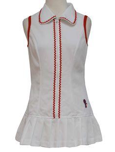 1970 S Fashion T Mod Knit Mini Tennis Dress