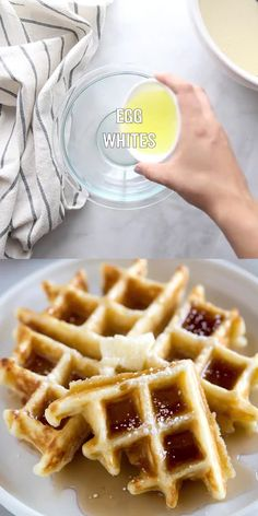 This light and fluffy Belgian Waffle recipe is so easy to make from scratch. Try adding fruit or other toppings and I think you will find that you will never need another waffle recipe!<br> The best light and fluffy Belgian Waffles. Best Belgian Waffle Recipe, Best Waffle Recipe, Waffle Maker Recipes, Waffle Toppings, Pancake Recipes, Belgium Waffle Recipes, Hotel Waffle Recipe, Small Batch Waffle Recipe, Waffle Desserts