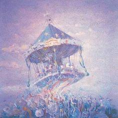 Tadeusz Michaluk - Carrousel de la Tour Eiffel - Huile  120x120 cm - carrousel peintures images - Recherche Google