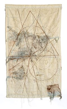 La nuit blanche — Toshitaka Aoyagi Flow, drawing by particle, 2014 Textiles, Mark Making, Art Object, Embroidery Art, Box Art, Textile Art, Fiber Art, Geometry, Contemporary Art
