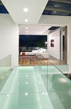 Glass bridge over Atrium Foyer coolness...