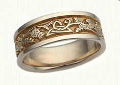 Celtic Thistle   Triangle Knot Wedding Band - 6-7 mm -Sterling Silver or 4f50548f30