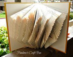 page de livre d'art de pliage, page de livre tutoriel de pliage, page de livre pliage, le pliage des pages de livre, livre pliage, le bricolage,