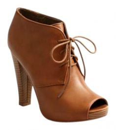 e7a2f7cf577 Ann Taylor LOFT Cognac Sexy Leather Peep-toe Boots Booties Size US 8  Regular (M