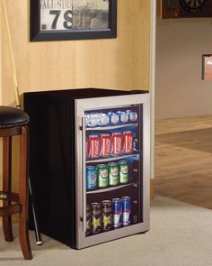 A beverage center or a bar fridge, perfect for any 'man cave' and great for entertaining guests! Try Danby's DBC434A1BSSDD