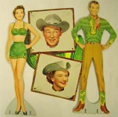 "As children during the ""Fabulous Fifties,"" my sister and I enjoyed playing with paper dolls. Many hours were spent on our living room rug o... #artsandcraftswithpaper,"