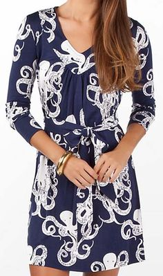 Most Lilly Pulitzer is a smidge too preppy for me, but I am kind of obsessed with the octopus dress.