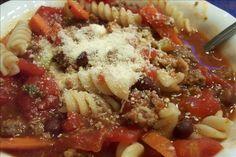 Olive Garden Pasta E Fagioli Soup in a Crock Pot (Copycat). Photo by um-um-good