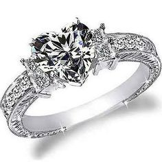 heart shaped engagement ring - Google Search