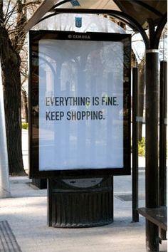 anti consumerism ad