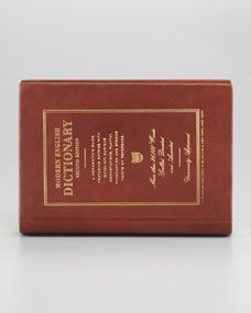 Kate Spade_wordsmith dictionary leather-bound book clutch