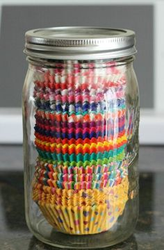 Cupcake paper storage idea