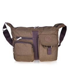 Vbiger Shoulder Bags Messenger Handbags Multi Pocket Waterproof Crossbody Bags (Coffee). High-quality Oxford fabric with fabric lining, sturdy, durable and waterproof. Large capacity for your convenience; adjustable shoulder strap. Top zipper closure; interior cell phone pocket with small side open pockets. Fashionable style, can be used as a handbag, shoulder bag or cross-body bag. Classic zippers, smooth and easy to open and close.