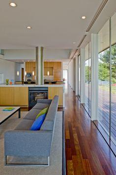 Flush window shades buisson residence by robert m gurney architect