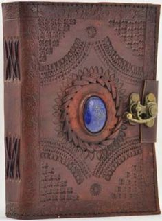 Locking Gods Eye Leather Blank Book with Book of Shadows BOS Journal Notebook Leather Book Covers, Leather Books, Leather Notebook, Leather Journal, Blank Book Of Shadows, Gods Eye, Journal Notebook, Journal Diary, Wiccan