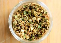 Raw Chili Spiced Brussels Sprout and Pumpkin Seed Topping