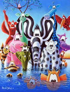 Les cousines de fifi la girafe tableau de girafe pour for Tableau chambre bebe animaux