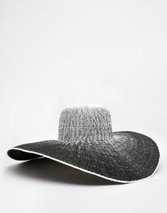 2c7f79f4977 ASOS Oversized Straw Hat In Ombre Space Dye Big Hats