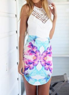 FLOWER DRESS# Last trend for this summer, has everything, color, fit and cut.