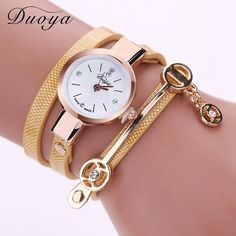 Duoya Relogio Feminino Luxury 2016 Brand Women Leather Bracelet Watch Casual Ladies Quartz Wristwatch Women Dress Watches