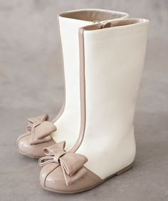 Love this Latte Elery Boot & Hair Clip - Kids on #zulily! #zulilyfinds OMG! These are too freaking adorable!