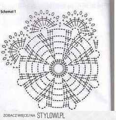 Best 12 Kira scheme crochet: Scheme crochet no. Crochet Shawl Diagram, Crochet Chart, Crochet Motif, Crochet Designs, Crochet Doilies, Crochet Flowers, Knit Crochet, Crochet Snowflake Pattern, Christmas Crochet Patterns