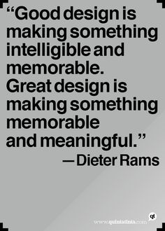 Dieter Rams on good and great design