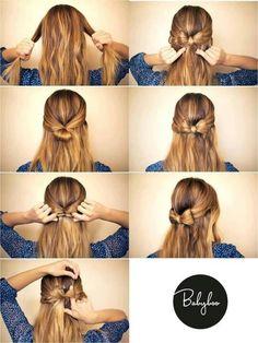 How to tie a hair bow headband.