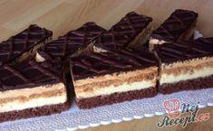 Oblíbené karamelově vanilkové řezy 3Bit | NejRecept.cz Cake Cookies, Waffles, Cheesecake, Food And Drink, Sweets, Candy, Chocolate, Baking, Breakfast